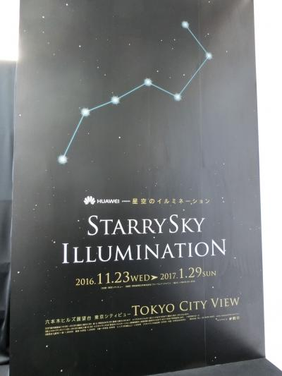 東京シティビューと森美術館へ(2017年1月)
