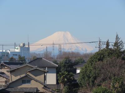 3月9日、ふじみ野市から見られた富士山