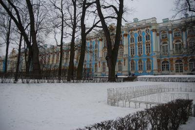 2017 真冬のロシア(2)「雪景色の夏の宮殿(エカテリーナ宮殿)」