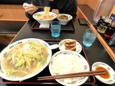 WBC観戦の東京ドームホテル2泊 引っ越し準備 熱烈 中華食堂 日高屋 巣鴨北口店の昼食