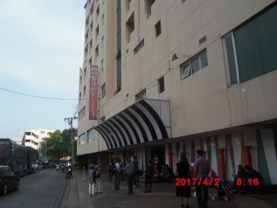 バンコクに戻りました。ホテルはHIPホテルです。