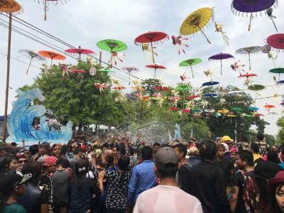 2017春ミャンマー~マンダレーでティンジャン・水かけ祭り