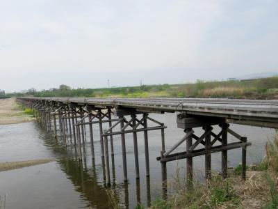 流れ橋(上津屋橋)へ 岩清水八幡・伏見城・伏見稲荷