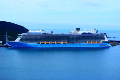 アジア最大級の豪華客船、油津港入港当日の日南市