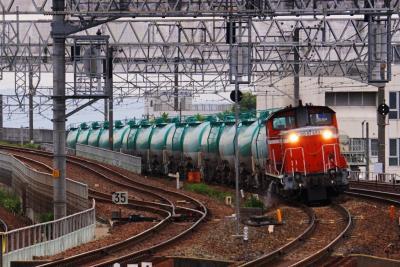 枇杷島で貨物列車を撮る