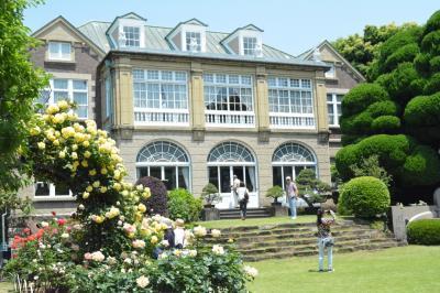 ロザリアン、鳩山会館:バラとステンドグラスの洋館を楽しむ②