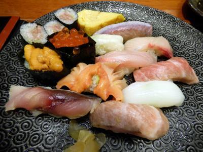 冬の終わりの熱海1泊 寿司処 初川 (すしどころ はつかわ)の夕食