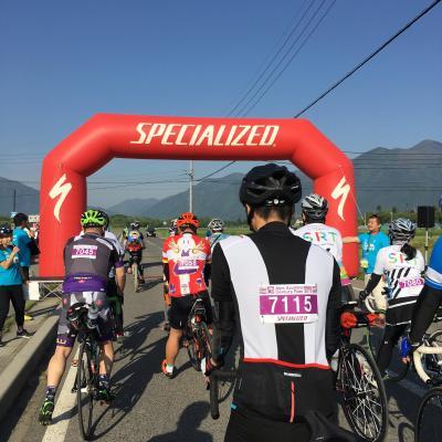 緑のアルプスあづみのセンチュリーライド2017 80km完走!