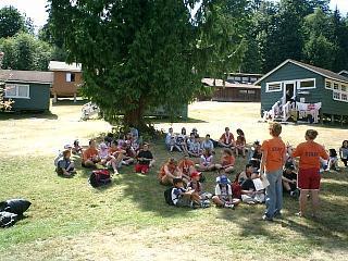 カナダの滞在型キャンプ