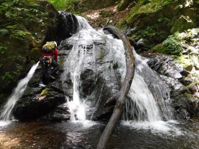 奥多摩 峰谷川坊主谷 連瀑帯を快適に遡る