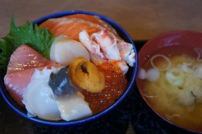 2017年GW 初めての出張じゃない札幌 二条市場で海鮮丼食べて白い恋人パークのあと桜と梅の花見をしてスープカレー食べてきました