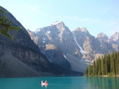 カナダの夏3 モレーン湖とタカカウの滝