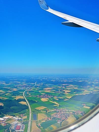 ミュンヘン空港に LH-1801便着陸 ☆鮮やかな大地・集落:マドリード⇒2時間30分
