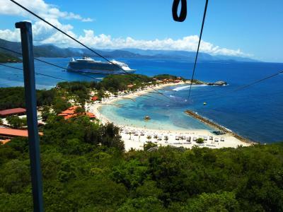楽園のカリブ海クルーズ(7日目ハイチ・ラバディに入港 プライベート半島にて!)