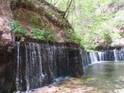 軽井沢の白糸の滝を見て旧軽井沢銀座散策