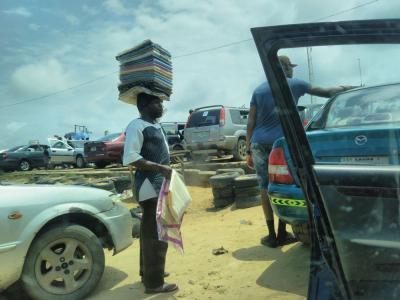 弾丸ナイジェリア1707  「賄賂と自称ガイドと乗合タクシーの乗客に悩まされました。」   ~ラゴス~