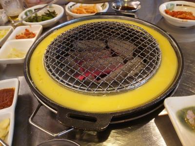 眠気が止まらない!大韓航空羽田発深夜便で真夏のソウルに行ってきました3!弘大で焼き肉!