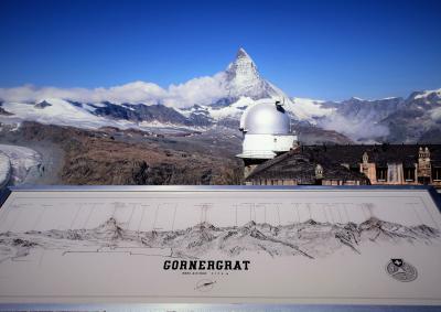 2017年7月 スイス5日目 その2 登山鉄道でゴルナーグラート展望台に上がり氷河やマッターホルンを見ました。
