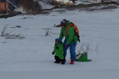 オーロラ・スキー・魚釣り