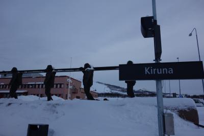 オーロラとスキー
