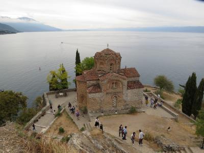 マケドニアの旅(2)・・バルカン半島のエルサレムと呼ばれ、オフルド湖の湖畔に繁栄した世界遺産の町、オフリドを訪ねます。