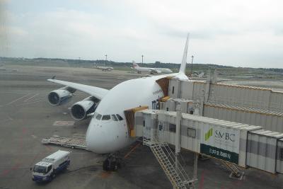 マレーシア旅行1 マレーシア航空 A380 ビジネスクラス搭乗編(往路)