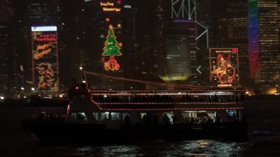 動画 香港 スターフェリーから見た夜景 3編。