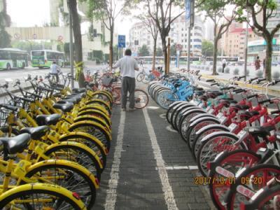 上海の貸自転車