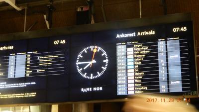 オスロ:ベルゲン鉄道 Ⅰ  2017年11月29日乗車