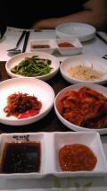 最初の夜は、なぜか韓国料理!