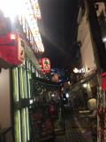 一瞬の大阪キタ、お初天神裏参道界隈の夜