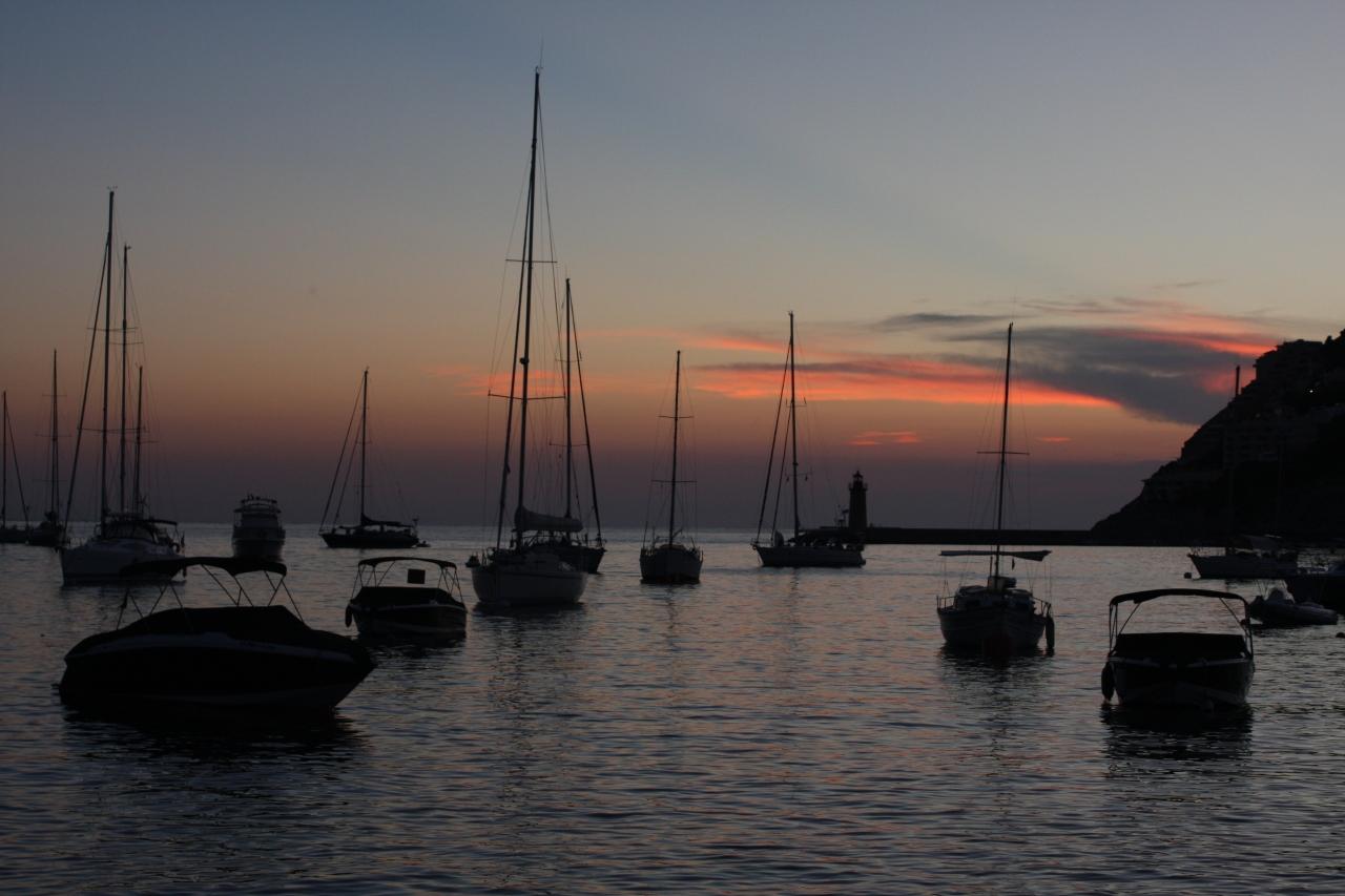 マヨルカ島の夕焼け(Port d' Andrat...