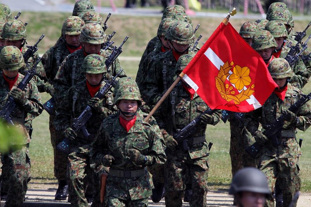 信太山駐屯地 陸上自衛隊 観閲行進 訓練展示