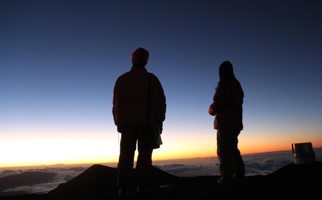 ハワイ3島周遊、ハワイ島(マウナケア山...
