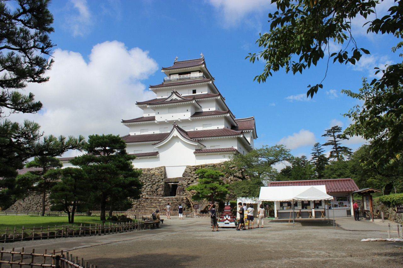 福島県に二本松城と会津若松城を訪ねた