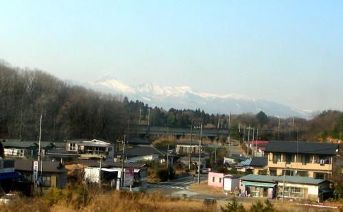 ローカル線の車窓から眺める那須高原