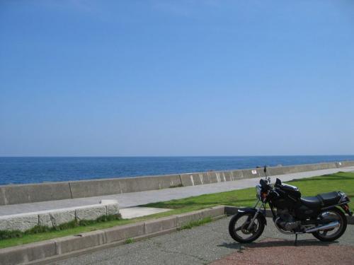 初夏の海と千国街道ツーリング