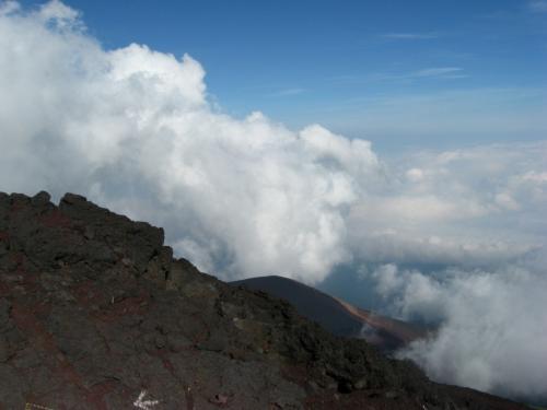 家族四人で富士登山(富士宮ルート)