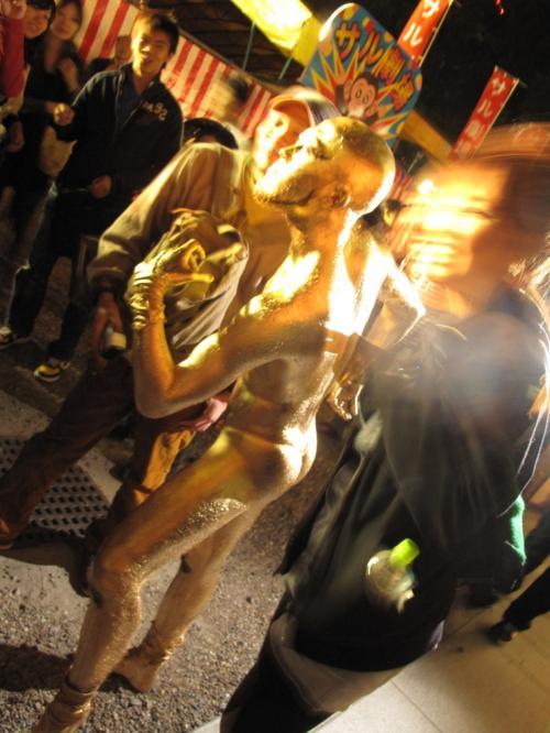 『名古屋/大須大道町人祭りは金粉ショーで〆るのだ!に続くのだ!の巻。』 [愛知]のブログ・旅行記