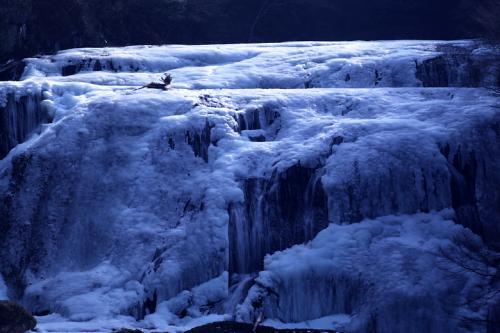 春が来た! 氷結していた袋田の滝(氷瀑)が流れ始めました。「日本三大瀑布」「日本の滝百選」 / 茨城県久慈郡大子町