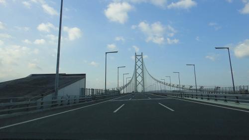 明石海峡大橋を走る