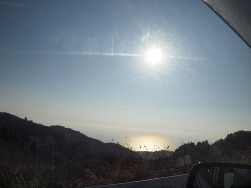 年末年始の伊豆旅行 トーヨータイヤ・ターンパイクの大観山ティーラウンジからの富士山 2011年12月