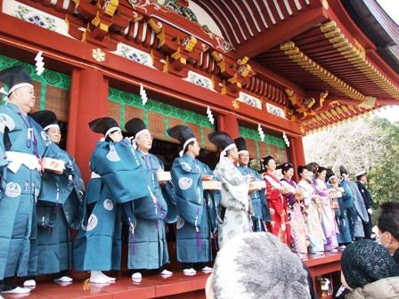 鎌倉の節分祭に参加しました~.3 ★ 鶴岡八幡宮・参拝&節分会参加