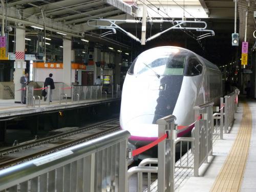 「 秋田新幹線こまち 」に乗って仙台駅から秋田駅へ  秋田県