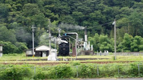 萩方面から津和野に到着した ...