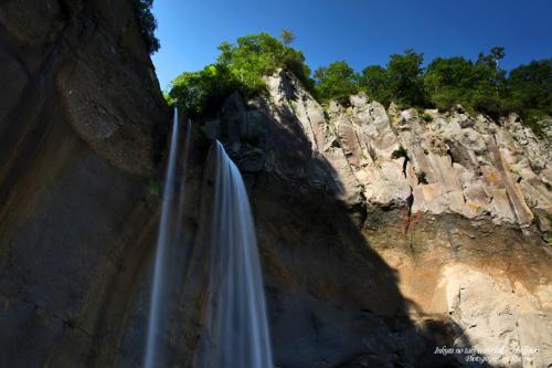 インクラの滝 日本の滝100選 /北海道白老郡白老町