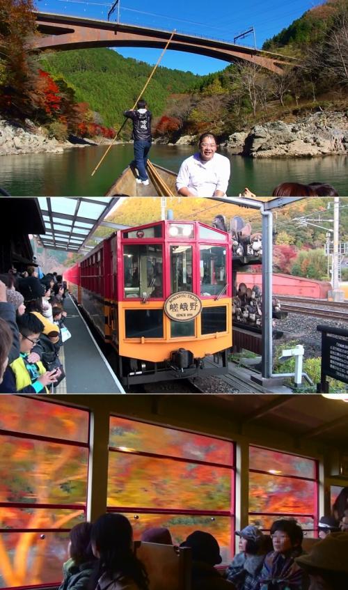 2012年 『秋の保津川下り』 & 『夕暮れの紅葉ライトアップの嵯峨野トロッコ列車』 動画もつけてます。