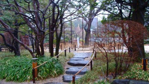 みぞれまじりの中の・・・江戸川平成庭園