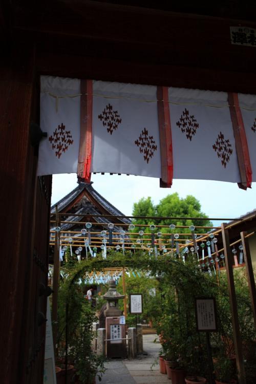 奈良 おふさ観音の風鈴まつりと本薬師寺跡のホテイアオイ