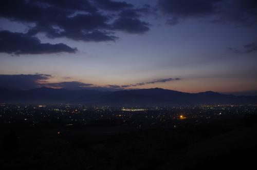 2014年 元旦 長野県 篠ノ井 茶臼山からの初日の出~善光寺参り